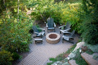 inviting firepit for s'mores
