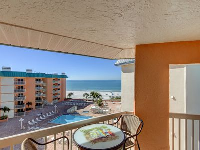 Photo for Direct View of the Gulf of Mexico and the Intercoastal 3 Balconies End Unit