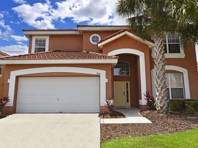 Photo for Orlando Disney villa in gated resort with South-facing pool, Spa, near golf