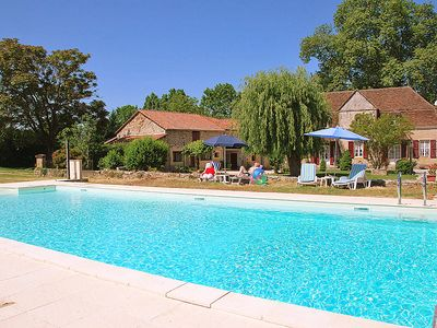 Photo for Le Manoir, 8 Pers. Stone House With 5 Bedrooms, Large Pool, Wifi, Internet