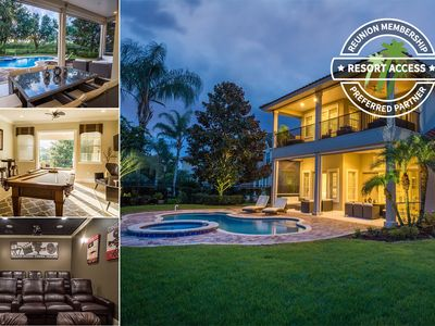 Photo for Contemporary Furnished Luxury Pool Home! Cinema, Pool Table - Close to Disney!