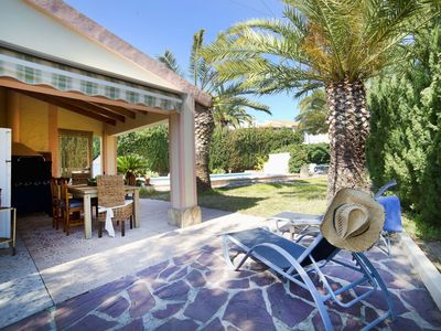 Photo for Beautiful private villa for 8 guests with private pool, A/C, WIFI, TV and parking