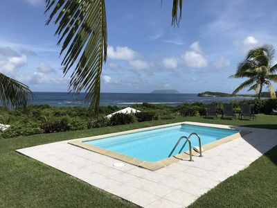 Photo for Beautiful sea view villa with private pool and direct access to the beach