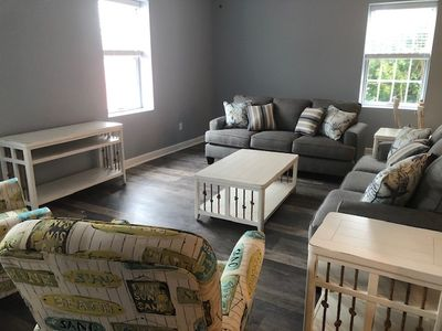Photo for ** New Renovations for 2020 ** , 20 B Baltimore Ave - Huge Beach Block Condo with Pool, 3 bed 2 bath,Beach equipment included. Off street parking. Sleeps 12, New Shared Outdoor Courtyard with Propane Grill, **Includes Linens + Towels**