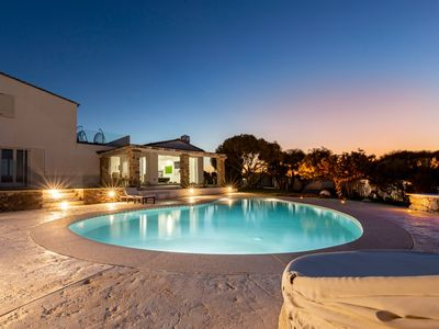 Photo for Luxury villa with pool and garden of 2000sqm near the sea