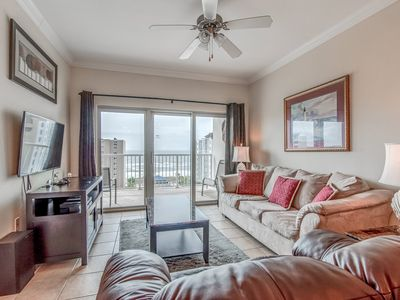 Photo for Condo overlooking the Gulf w/ shared pools, lazy river, breezeway to beach!