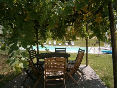 Photo for Cosy apartment for 4 guests with pool, internet, TV, pets allowed and parking