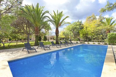 Lovely big pool with plenty of sun loungers and your choice of sun or shade
