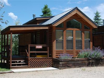 """Photo for Cozy """"Chalet"""" Style Cabin at Three Rivers Resort"""