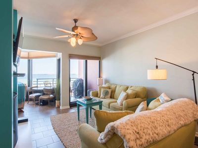 Photo for Lovely Condo with Bay Views and a Private Balcony ~ Steps to the Beach