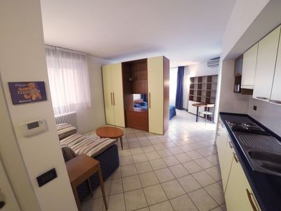 Photo for New, spacious, bright, elegant loft apartment with balcony. Opposite the hospital S. Orsola.