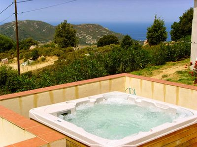 Photo for Stunning 2-bedroom house in Upper Corsica with a hot tub, furnished terrace and