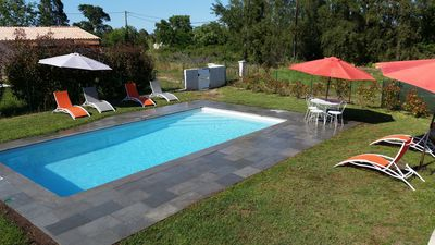 Photo for 70m² villa with fenced private pool 8X4 equipped