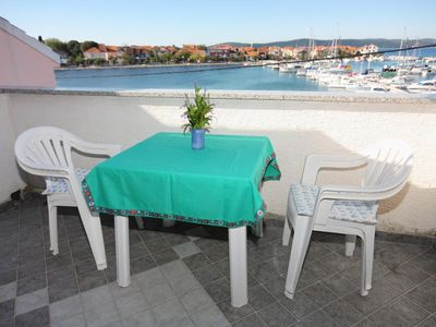 Photo for Studio flat with terrace and sea view Bibinje, Zadar (AS-5759-b)