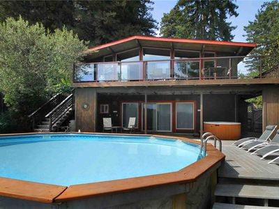 Photo for SOLEIL: Guerneville Fab Views | Hot Tub | Gas Fireplace | *Pool