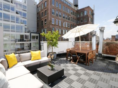 Photo for Elegant 2-Bed 2-Bath Triplex With Private Roof Terrace and Empire State Views