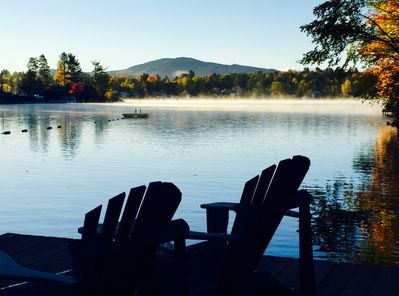Perfect coffee spot on a fall morning