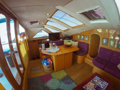 Salon view from the starboard side