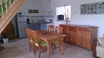 Photo for The Gîte Nature is located in our equestrian farm, surrounded by animals