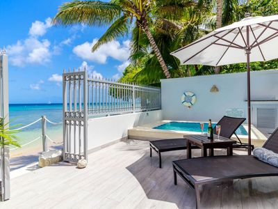 Photo for Beautiful Beachfront Villa with Spectacular Views, Plunge Pool, Grand Glass Balcony, Free Wifi