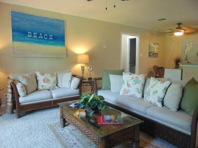 Photo for A1 Ocean Walk Resort  one bedroom floor plan, lower level, very clean and comfy.  New king size bedding, faces nice landscaped area.  Ocean Walk Community, close to front heated pool.