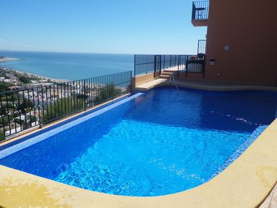 Photo for Villa With Private Infinity Pool And Spectacular Sea, Mountain And Town Views