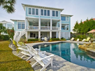 Amazing Views from this Oceanfront Private beach home with heated pool & hot tub