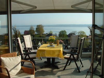 Photo for TOP apartment with panoramic views of lake and Alps, 5 min. to the Meersburg old town