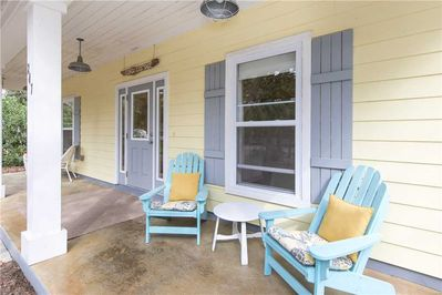 Seating area on front porch