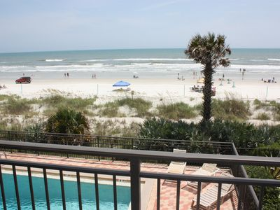Photo for Direct Ocean Front Condo with wrap around balcony on 2nd floor with pool 3/2