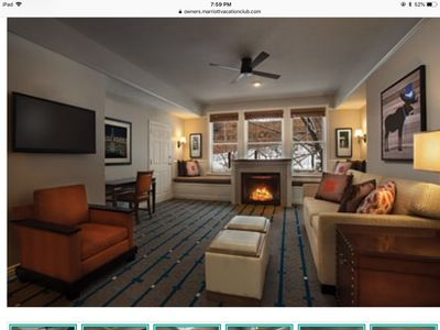 Photo for Marriott's Summit Watch One Bedroom Villa with Fireplace