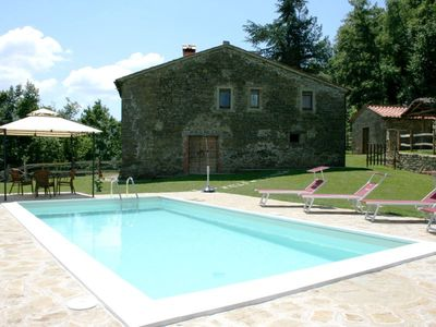 Photo for Old independent farmhouse  up to 5 people with private pool and garden. Good value for money. Peacef