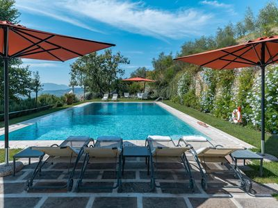 Photo for Villa I Pini is a beautiful villa ner Lucca in Tuscany, private pool, amazing views, air conditionin