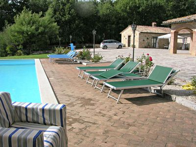 Photo for Apartment in farmhouse with pool