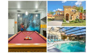 Photo for Watersong Disney Villa / South facing Pool/Spa / Free WIFI / Outdoor Kitchen