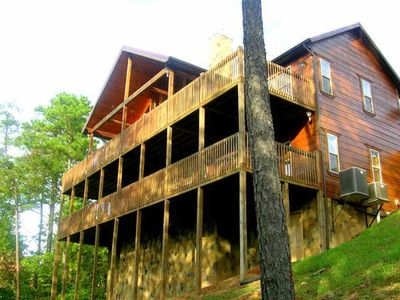 Photo for SIMPLE PLEASURES  is a luxury 2 story cabin with fully covered decks.