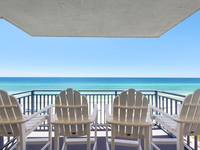 Photo for Wake up to Gulf views at this beachfront condo w/ shared pool/hot tub/gym!
