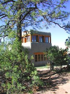 Photo for Coyote Mountain cabin retreat, serene exclusive privacy in the tall pines