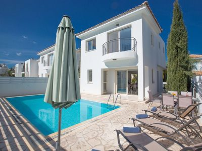 Photo for Villa Foros Tria - Modern 3 Bedroom Pernera Villa with Pool - Close to Beaches and Amenities