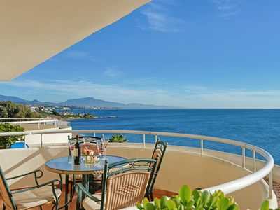 Photo for Beach front very spacious duplex penthouse in beautiful gardens