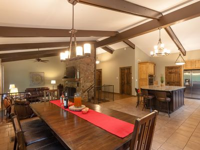 Photo for The Lodge- Beautiful 4/3 Open Concept Retreat,15 min to DT, Hot Tub, Hike Trails