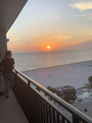 Photo for Beachfront condo on St Pete Beach with beach and bay views!