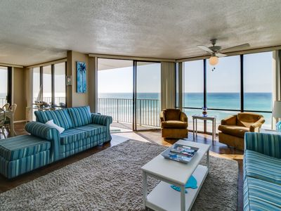 Photo for Oceanfront condo w/ panoramic views, shared pool/hot tub - snowbirds welcome!