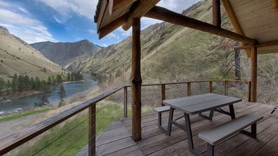 Photo for Hand Crafted Log Cabin On The Salmon River With Private Sand Beach