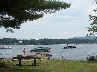 Photo for Lake Winnipesaukee Water View Condo in South Down Shores with Beach Access
