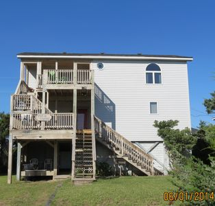 Photo for Frisco Beach House! 4 lots back, easy walk to ocean, Great ocean view!