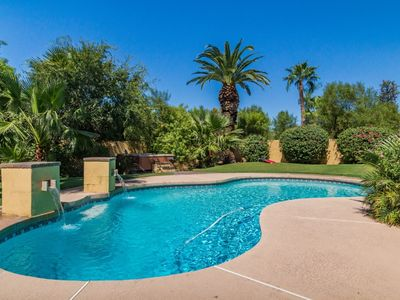 Photo for Kathleen Estate in Scottsdale ❤️ Backyard Oasis w/ Heated Pool-Spa-Best Golf, Shop & Dining Area.