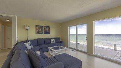 Photo for New Listing: Breath-Taking Contemporary Escape on Tip of Hog Creek Point w/ 190-Degree Bay Views