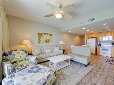 Photo for Beachfront condo w/ great Gulf view, balcony & shared pools/lazy river/hot tub!