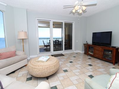 Photo for Beach Colony Tower 12B- Beach Front unit with large terrace & amazing views!